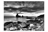 B&W Tide Pools & Rocks Prints by Nish Nalbandian