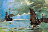 Claude Monet Seascape Poster Posters by Claude Monet
