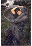 Boreas Afiche por John William Waterhouse