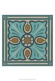 Piazza Tile in Blue I Kunstdrucke von Erica J. Vess