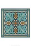 Piazza Tile in Blue I Prints by June Erica Vess