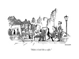 """Make it look like a selfie."" - New Yorker Cartoon Premium Giclee Print by Corey Pandolph"