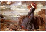 Miranda et la tempête Posters par John William Waterhouse