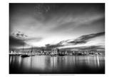 B&W Sunset Reflections Prints by Nish Nalbandian