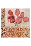 Portrait of Tulips Print by Marietta Cohen