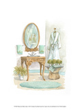 Watercolor Bath in Spa I Print by Jerianne Van Dijk