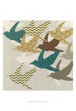 Patterned Flock II Prints by Erica J. Vess