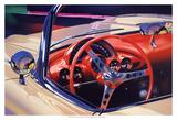 '58 Corvette Kunstdrucke von Graham Reynolds