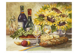 Wine & Sunflowers Print by Jerianne Van Dijk