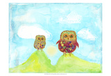 Hilltop Owls Posters by Ingrid Blixt