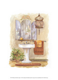 Watercolor Bath in Spice I Poster von Jerianne Van Dijk