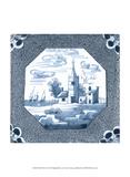 Delft Tile II Print by  Vision Studio