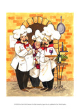 Wine Chefs Prints by Jerianne Van Dijk