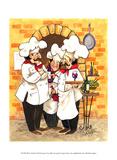 Wine Chefs Print by Jerianne Van Dijk