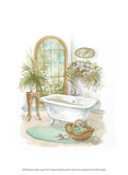 Watercolor Bath in Spa II Prints by Jerianne Van Dijk