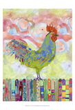 Rooster on a Fence I Stampe di Ingrid Blixt