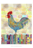 Rooster on a Fence II Posters by Ingrid Blixt