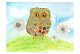 Owl & Flowers Prints by Ingrid Blixt