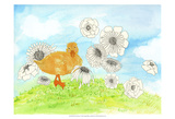 Duck & Flowers Print by Ingrid Blixt