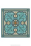Piazza Tile in Blue IV Poster von Erica J. Vess