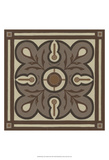 Piazza Tile in Brown III Prints by Erica J. Vess