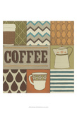 Coffee Collage Prints by June Erica Vess