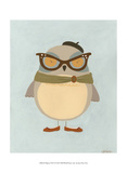 Hipster Owl I Poster by Erica J. Vess