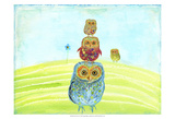 Owl Totem Prints by Ingrid Blixt