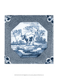 Delft Tile III Print by  Vision Studio
