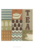 Tea Collage Prints by June Erica Vess