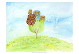 Owl Family Poster by Ingrid Blixt