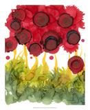 Poppy Whimsy VI Giclee Print by Cheryl Baynes