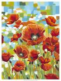 Vivid Poppies I Giclee Print by Carolee Vitaletti