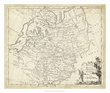 Map of Russia Giclee Print by T. Jeffreys