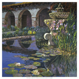Fountain at San Miguel I Giclee Print by Clif Hadfield