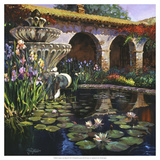 Fountain at San Miguel II Giclee Print by Clif Hadfield