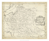 Map of Poland Giclee Print by T. Jeffreys
