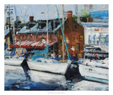 Annapolis Wharf Giclee Print by Curt Crain
