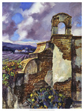 Mission Vineyard Giclee Print by Clif Hadfield