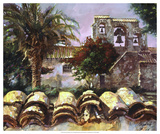 Wall at San Miguel Giclee Print by Clif Hadfield