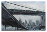 To the City Giclee Print by Curt Crain