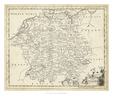 Map of Germany Giclee Print by T. Jeffreys