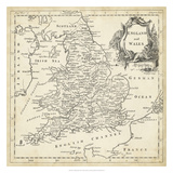 Map of England & Wales Giclée-tryk af T. Jeffreys