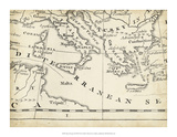 Map of Europe Grid VIII Giclee Print by T. Jeffreys