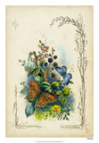 Victorian Butterfly Garden VII Giclee Print by  Vision Studio