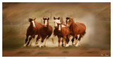 Blazing Herd IV Giclee Print by David Drost