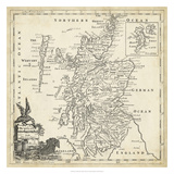 Map of Scotland Giclee Print by T. Jeffreys