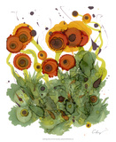 Poppy Whimsy VII Giclee Print by Cheryl Baynes