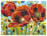 Vivid Poppies III Giclee Print by Carolee Vitaletti