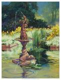 La Fontana Giclee Print by Julie G. Pollard